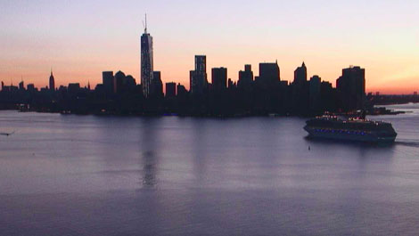 HD Streaming Video of New York Harbor from the Torch