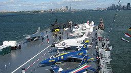 USS Intrepid at Pier 86 Time-Lapse