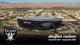 Las Vegas Raiders Allegiant Stadium Construction Time-Lapse