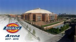 Dickies Arena Construction Time-Lapse Movie