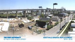 Goethals Bridge Construction Time-Lapse