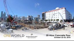 Paramount Miami Worldcenter Foundation Pour Time-Lapse