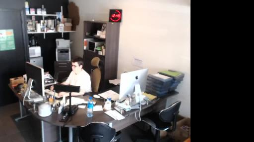 # la webcam du bureau