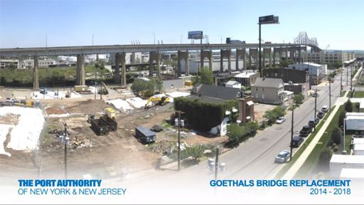 Goethals Bridge Time-Lapse